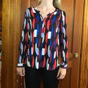 Fun geometrical blouse